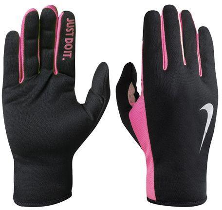 Nike Rękawiczki damskie Rally Run Gloves 2.0 czarno-różowe r. M