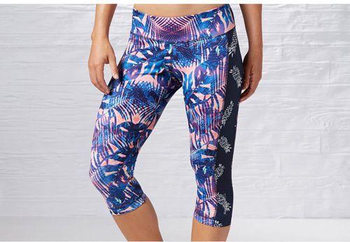 Reebok Spodnie damskie 3/4 Yoga Print Capri Multikolor r. M (B83934)