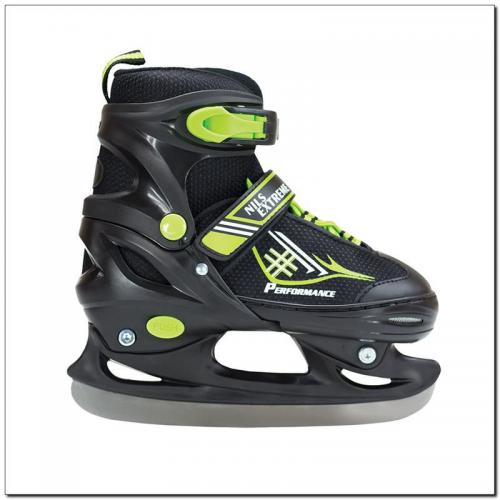 NILS Extreme Łyżwy juniorskie NH7104 A Black/Green r. S (30-33)