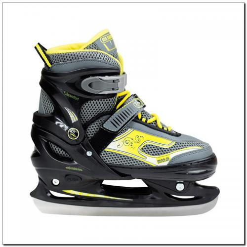 NILS Extreme Łyżwy juniorskie NH701A Black/Yellow r. M (34-37)