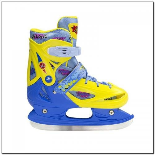 NILS Extreme Łyżwy juniorskie NH1105 A Yellow/Blue r. M (35-38)