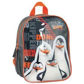 PASO Plecak Pingwiny z Madagaskaru PMO-303 czarno-pomarańczowy