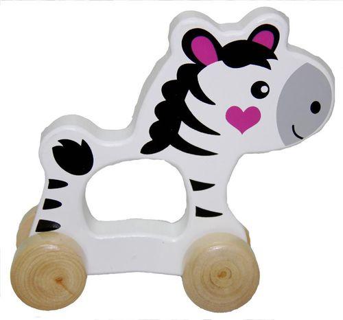 Playme Drewniane zwierzątko do pchania Zebra - 264761