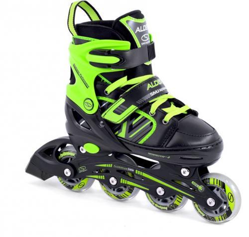 SMJ sport 2w1 łyżwy + rolki regulowane CRK41 ALDER czarno-zielone r. 38-41