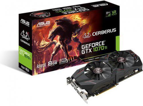 Karta graficzna Asus GeForce GTX 1070 Ti Cerberus Advanced Edition 8GB GDDR5 (256 bit) DVI-D, 2xHDMI, 2xDP, BOX (CERBERUS-GTX1070TI-A8G)