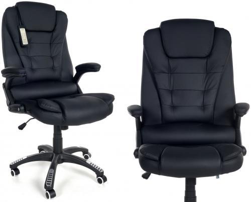 CALVIANO Fotel biurowy MANAGER z masażem - czarny
