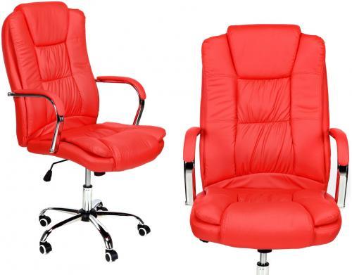 CALVIANO Fotel biurowy MAX czerwony