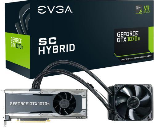 Karta graficzna EVGA GeForce GTX 1070 Ti SC Hybrid Gaming 8GB GDDR5 (256 bit) DVI-D, HDMI, 3xDP, BOX (08G-P4-5678-KR)