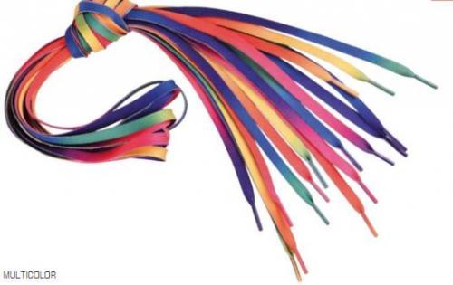 IQ Sznurówki Lace Rainbow Multicolour 120CM