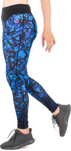 IQ Legginsy damskie Aleekas WMNS Surf The Web/ Black/ Bright Rose r. S