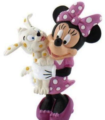 Bullyland Figurka - Minnie z pieskiem (220465)