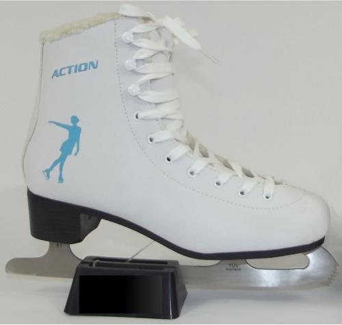 Action ŁYŻWY FIGUROWE ACTION WHITE&BLUE R.41