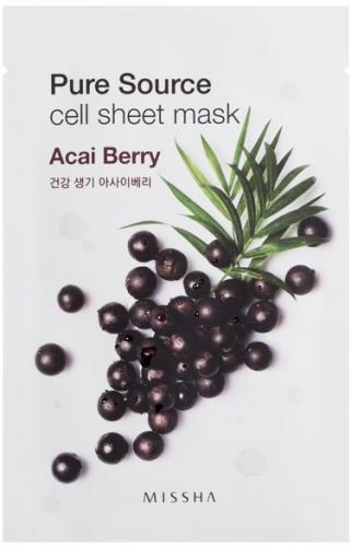 Missha Pure Source Cell Sheet Mask (Acai Berry)  21 g