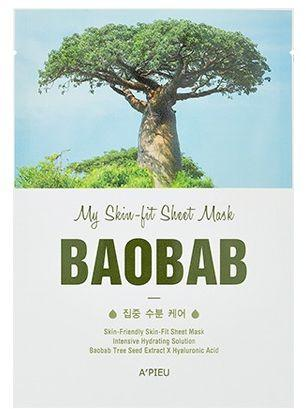 Apieu A'pieu  Skin- Fit Sheet Mask ( Baobab Tree) 25 g