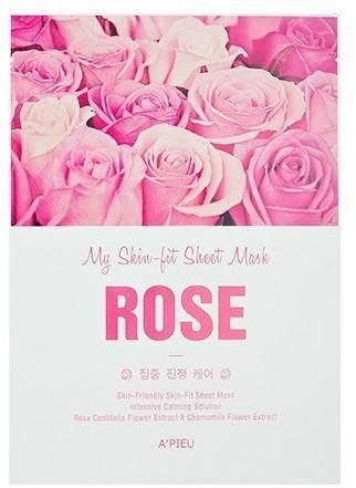 Apieu A'pieu Skin- Fit Sheet Mask (Rose) 25 g