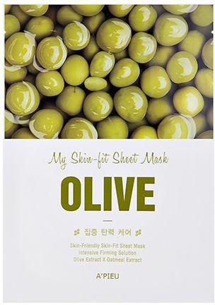 Apieu Skin- Fit Sheet Mask ( Olive ) 25 g