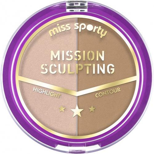 Miss Sporty Paleta do konturowania twarzy Mission Sculpting 001 Mission Blondy 9g