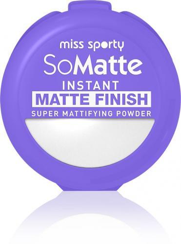 Miss Sporty So Matte Instant Matte Finish Super Mattifying Powder puder antybakteryjny w kamieniu 001 Universal 9.4g