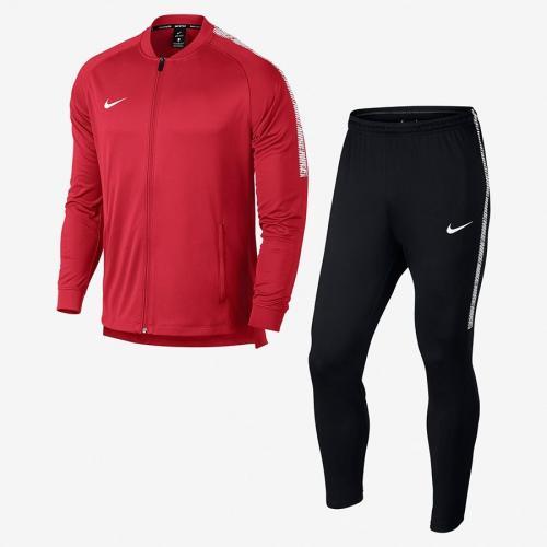 Nike Komplet męski Dry Squad Football Tracksuit czerwono-czarny r. S (859281 657)
