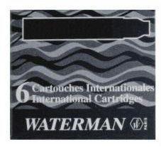 Waterman Naboje Inter do piór, czarne (S0110940)
