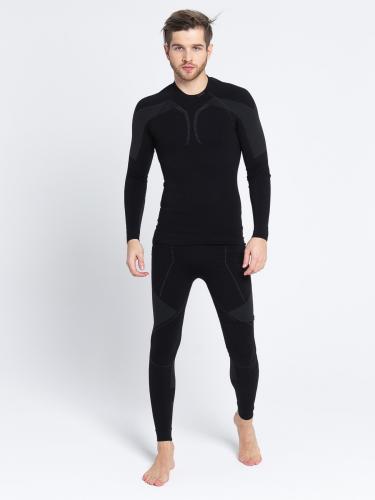 GATTA Komplet bielizny męskiej Thermo Black - Grey r. XL