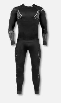 GATTA Komplet bielizny męskiej Thermo Basic Black - White r. XL