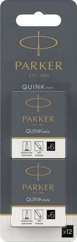 Parker Parker Tintenpatrone QUINK Mini Schwarz 12 Stück - 1950418