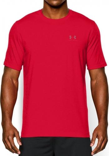 Under Armour Koszulka męska Sportstyle Left Chest Logo T-Shirt Red r. XS (1257616600)