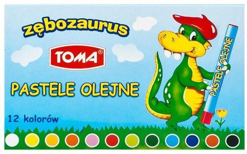 Toma Pastele olejne Zębozaurus 12 kolorów
