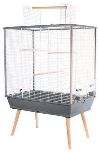 Zolux Klatka dla ptaków Neo Jili H80 szara
