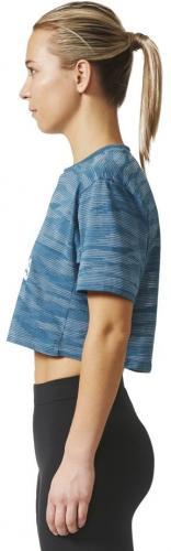 Adidas Koszulka damska AEROKNIT CROP T niebieska r. M (BQ5793)