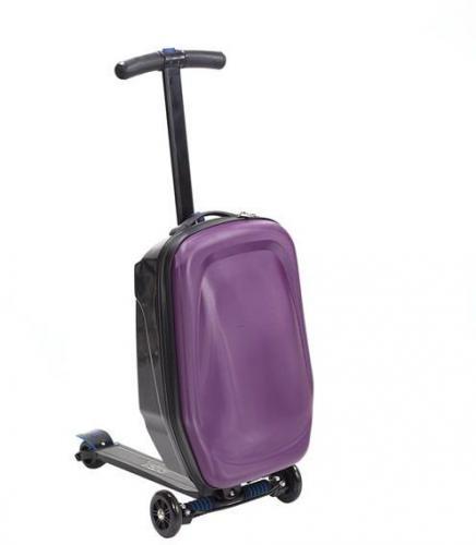 NILS Extreme Hulajnoga z walizką HTF03 fioletowa