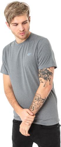 4f Koszulka męska H4L18-TSMF002 jasnoszara r. XL