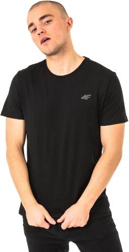 4f Koszulka męska H4L18-TSM002 czarna r. XL