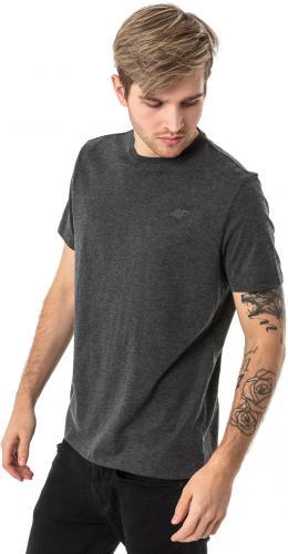 4f Koszulka męska H4L18-TSM002 ciemnoszara r. S