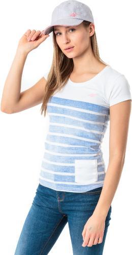 4f Koszulka damska H4L18-TSD012 kobaltowa r. M