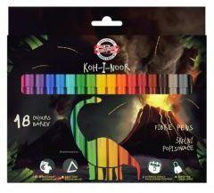 Koh-I-Noor Flamastry Dino 18 kolorów (254246)