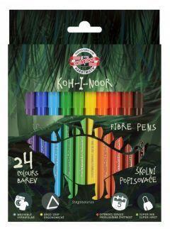 Koh-I-Noor Flamastry Dino 24 kolorów (254242)