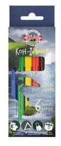Koh-I-Noor Flamastry Dino 6 kolorów (254229)