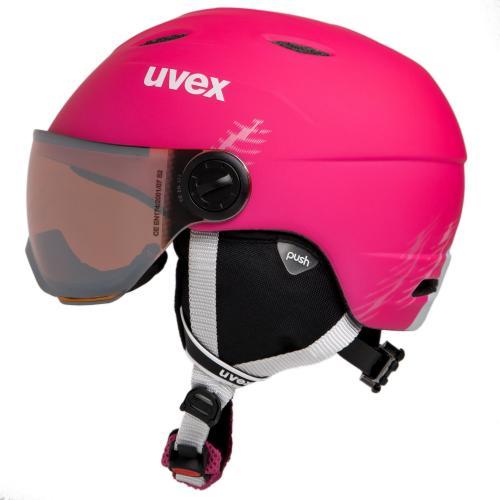 UVEX Kask dziecięcy Junior Visor Pro pink mat r. 54-56 cm (5661919005)
