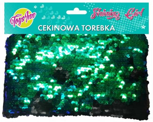 Stnux Torebka cekinowa zielono-czarna (STN1528)