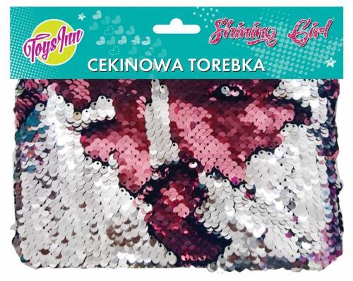 Stnux Torebka cekinowa srebrno-różowa (STN1531)