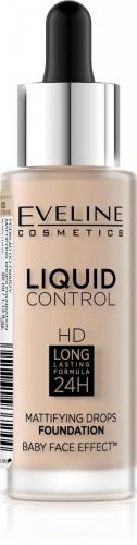 Eveline Liquid Control HD Podkład do twarzy  010 Light Beige  32ml