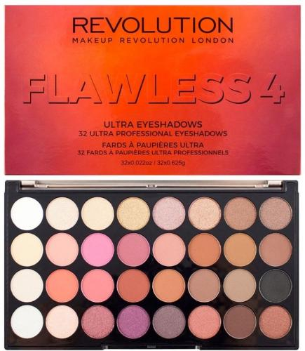 Makeup Revolution  Ultra Eyeshadows Paleta 32 Cieni Do Powiek Flawless 4