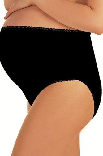 Italian fashion Majtki ciążowe Mama Maxi czarne XL