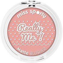 Miss Sporty Róż do policzków Really Me Matte Blusher 102 Really Sweet  5g