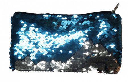 Piórnik Stnux cekinowy niebiesko-srebrny (STN 1523)