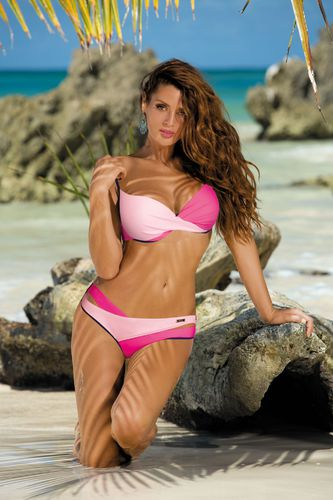 Marko Kostium kąpielowy Christina Blueberry-Rosa Confetto-Milk Shake M-348 r. XL
