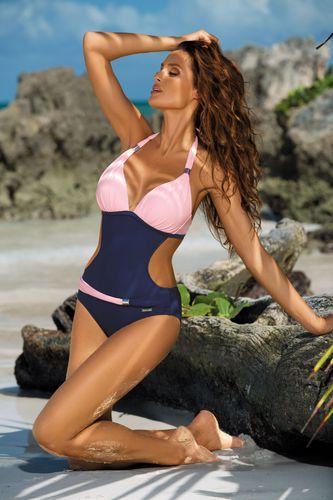 Marko (U) Kostium kąpielowy Beatrix Blueberry-Rosa Confetto M-337  r. XXL