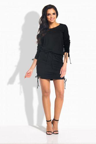 Lemoniade Elegancka sukienka ze ściągaczami czarna r. M (L182)